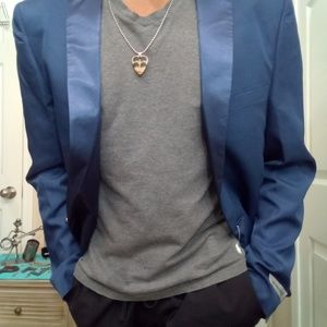 Other - New Blue shine Clubwear Rocker Blazer (free pants)